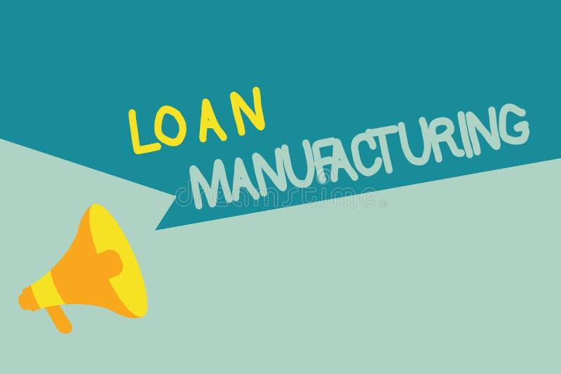 手写文本文字贷款制造业 概念意思检查借户的合格的银行过程 库存例证
