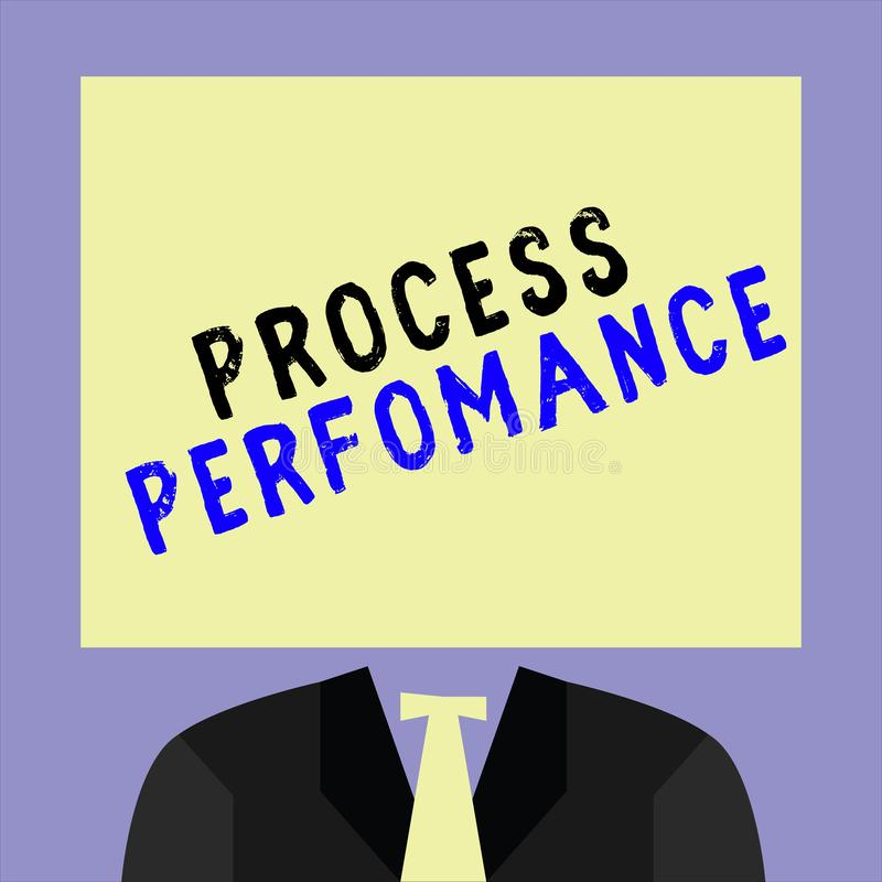 手写文本文字过程Perfomance 意味措施过程的概念有效地符合组织宗旨 向量例证