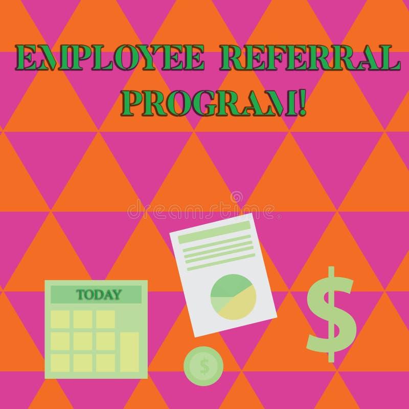 手写文本文字雇员推举节目 概念意思推荐正确的求职者份额空缺工作岗位 库存例证