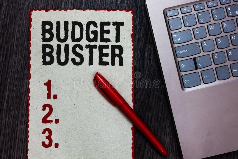 手写文本文字预算钉头切断机 意味无忧无虑的消费的概念讲价过度花费片断纸的多余的购买 库存图片