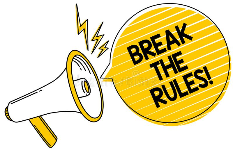手写文本断裂规则 概念意思做变动做一切另外叛乱改革表达文本线 向量例证