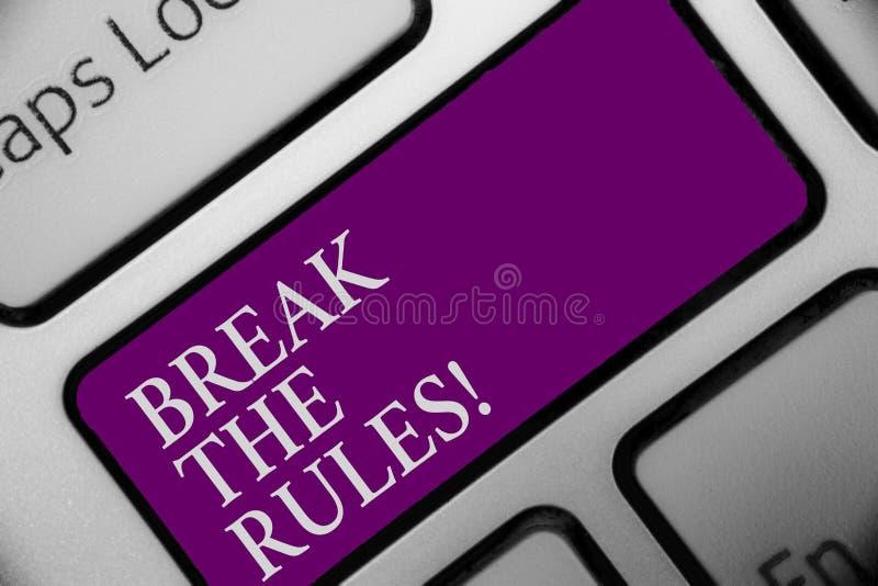 手写文本断裂规则 概念意思做变动做一切ty另外叛乱改革键盘按钮命中的钥匙 皇族释放例证