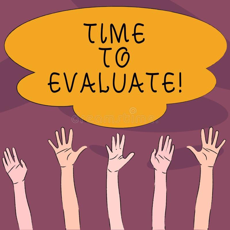 手写文本时间评估 意味的概念确定设置值数额估价法官或确定多种族 向量例证