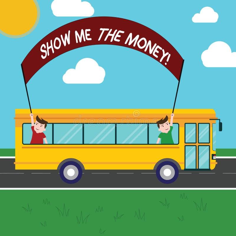 手写文本显示我金钱 显示现金的概念意思在购买或做前投资里面两个的孩子 向量例证