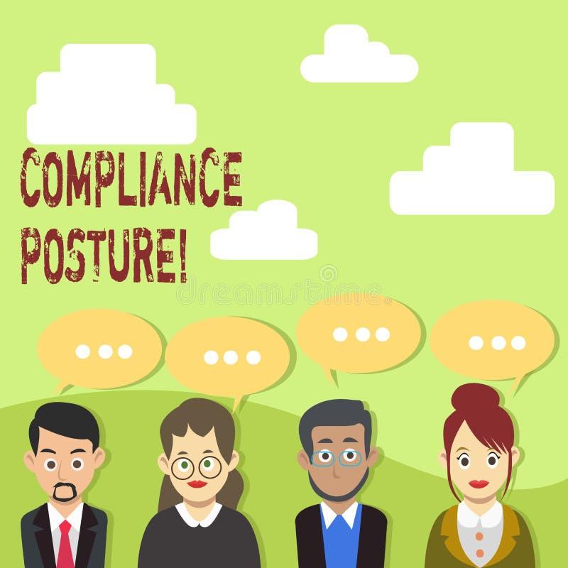 手写文本服从姿势 概念意思analysisage企业的防御和保证资源 向量例证