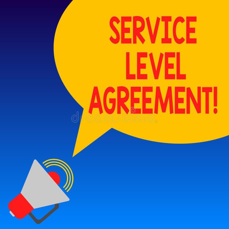 手写文本服务水准协议 概念在提供商和客户扩音机之间的意思承诺 库存例证