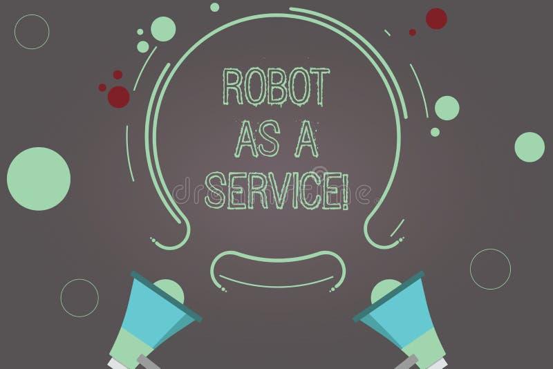 手写文本机器人作为服务 概念意思人工智能数字协助闲谈马胃蝇蛆两扩音机 向量例证