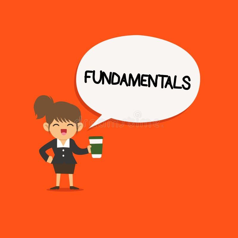 手写文本根本性 意味某事的中央主要规则原则的概念 向量例证
