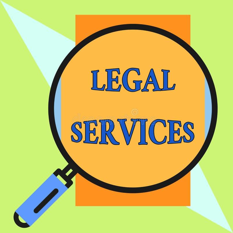 手写文本法律帮助 提供存取对于正义公平的审判法律平等回合扩大化的概念意思 向量例证