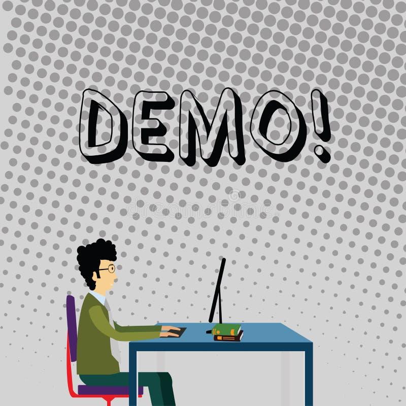 手写文本演示 概念意思试验Beta版免费考试某事的样品预览原型商人 库存例证