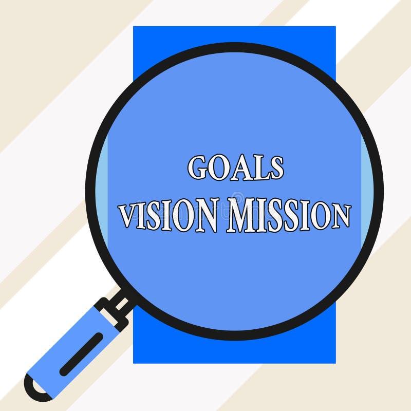手写文本目标视觉使命 概念意思实用计划过程用于帮助大的社区团体 皇族释放例证