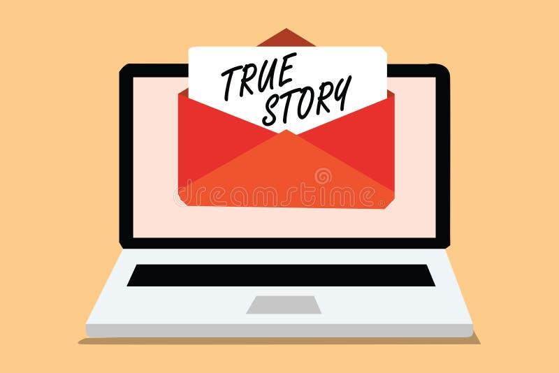 手写文本真实的故事 意味一个个体的每日经验在他的接受ema的整个生活计算机的概念 向量例证