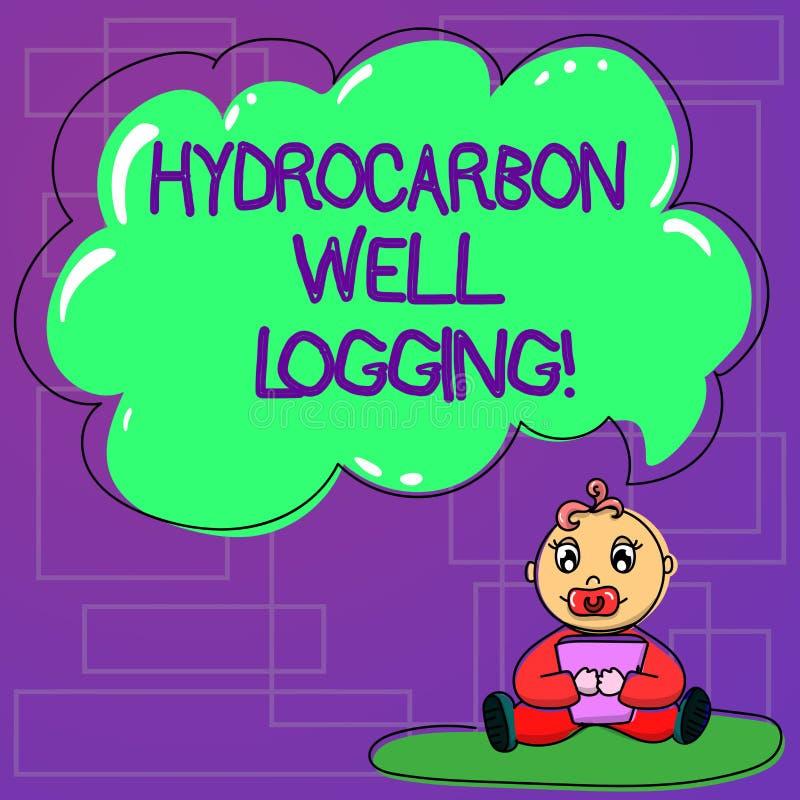 手写文本碳氢化合物钻井测试 概念钻孔婴孩坐的地质结构的意思纪录 皇族释放例证