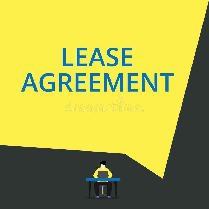 手写文本租借协定 概念以方式的意思合同对一个党同意租物产视图年轻人 皇族释放例证