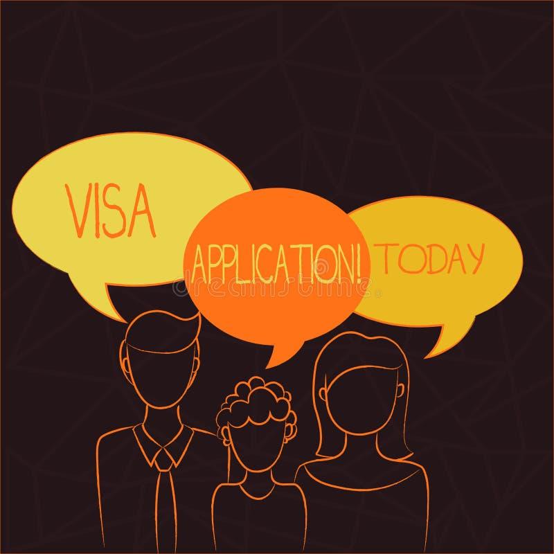 手写文本签证申请 国家授予的概念意思有条件授权外国人家庭  皇族释放例证