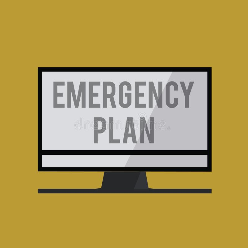 手写文本紧急办法 概念反应的意思做法对主要的紧急事件准备 皇族释放例证