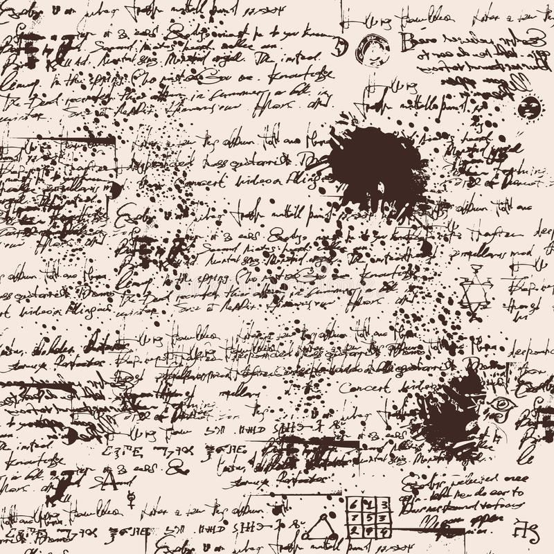 手写文本纹理背景  向量例证