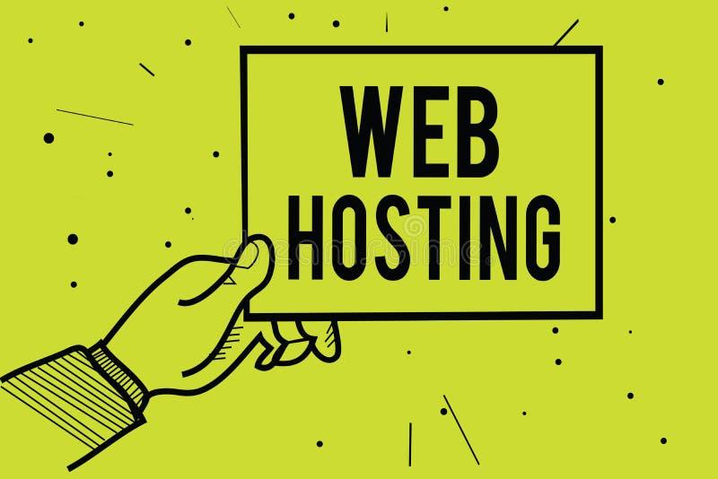 手写文本网络主持 概念意味提供的仓库面积的活动和通入为网站供以人员举行pap的手 库存例证