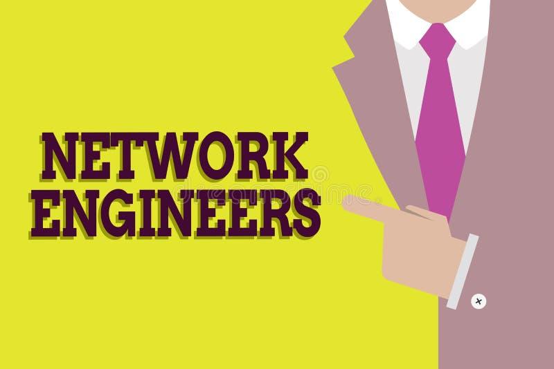 手写文本网络工程师 概念意思技术专业熟练在计算机系统 库存例证