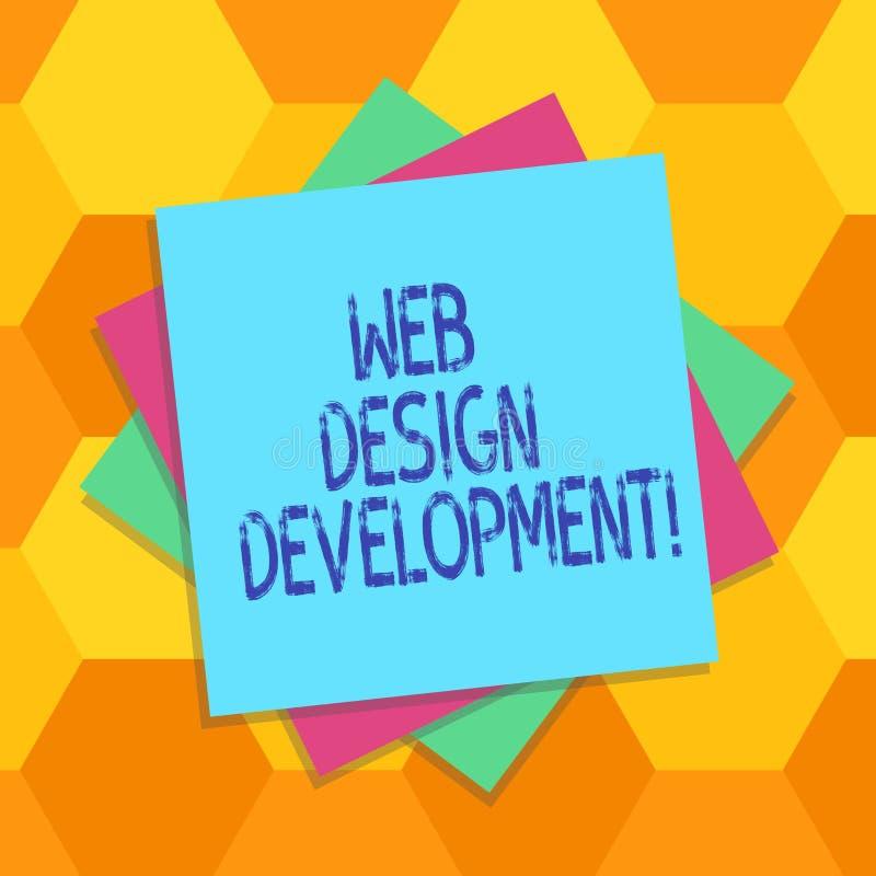 手写文本网络设计发展 主持的概念意思开发的网站通过内部网多层数  皇族释放例证