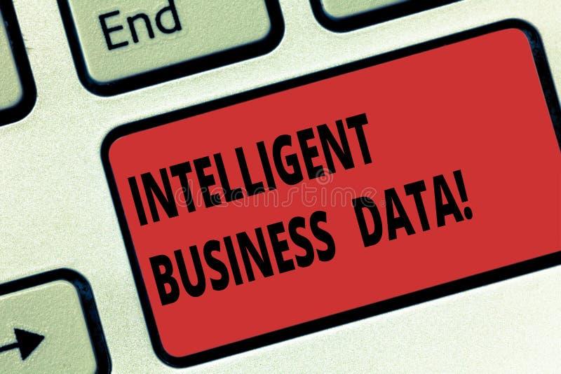 手写文本聪明的企业数据 意味对内部数据的用途的概念分析操作键盘键意图 库存例证