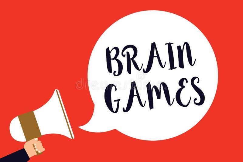 手写文本脑子比赛 意味心理战术的概念操作或威逼与拿着扩音机的对手人 向量例证