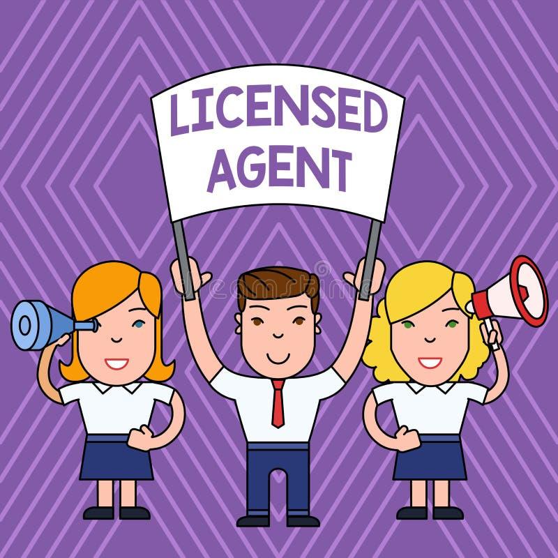 手写文本被准许的代理 保险单人的概念意思授权和被检定的卖主与 库存例证
