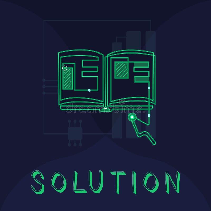 手写文本解答 概念意思手段解决问题或应付困难的情况 库存例证