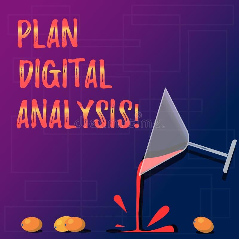 手写文本计划数字分析 意味对定性和定量数字资料鸡尾酒酒杯的分析的概念 免版税库存照片