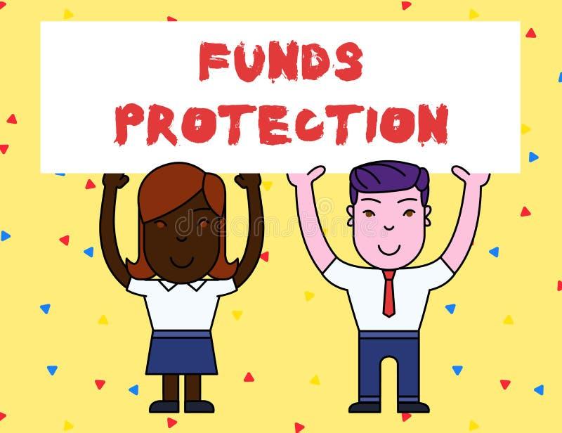 手写文本资金保护 概念意思许诺回归部分最初投资给投资者 两微笑 向量例证