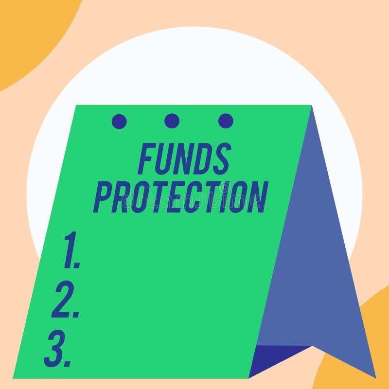 手写文本资金保护 概念意思许诺回归部分最初投资给投资者 开放大 库存例证