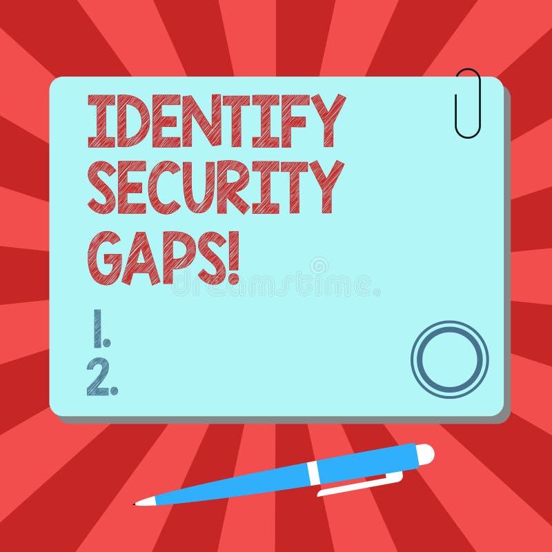 手写文本辨认安全空白 概念意思确定到位控制是否足够是空白的正方形 库存例证