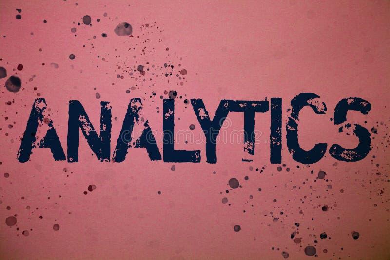 手写文本逻辑分析方法 概念意思数据分析财政信息统计报告仪表板想法消息桃红色ba 库存例证