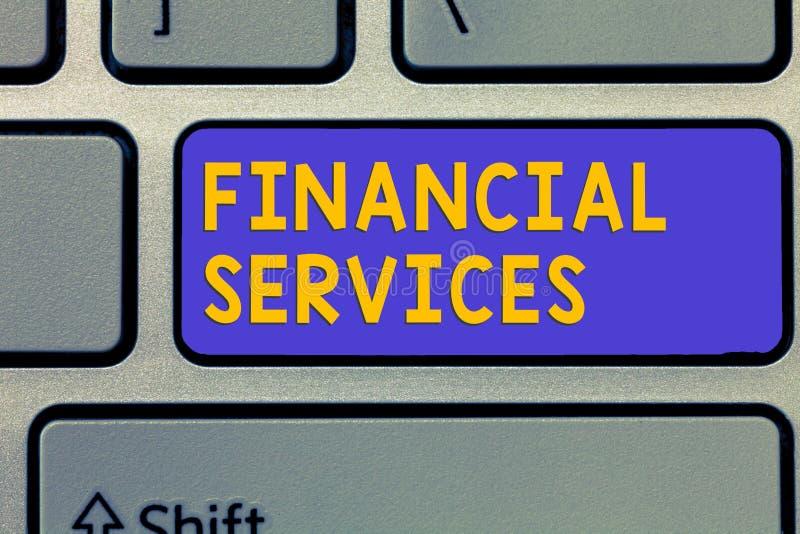 手写文本金融服务 概念意思金钱和投资谎话抵押品发行家 库存图片