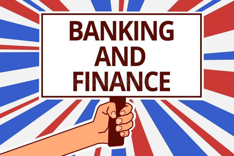 手写文本银行业务和财务 概念意思会计和个体股票金钱兴趣裱糊文本资本招贴s 库存例证