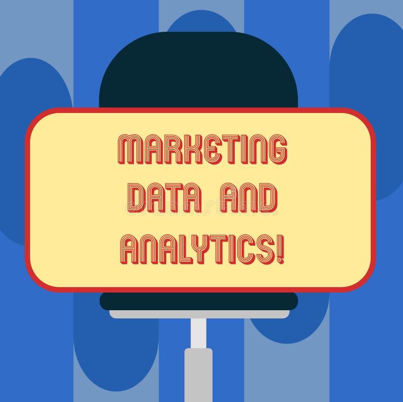 手写文本销售的数据和逻辑分析方法 意味的概念给促进统计分析空白做广告 皇族释放例证