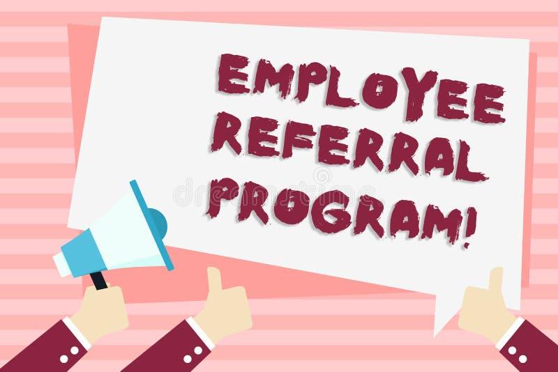 手写文本雇员推举节目 概念意思推荐正确的求职者份额空缺工作岗位手藏品 库存例证