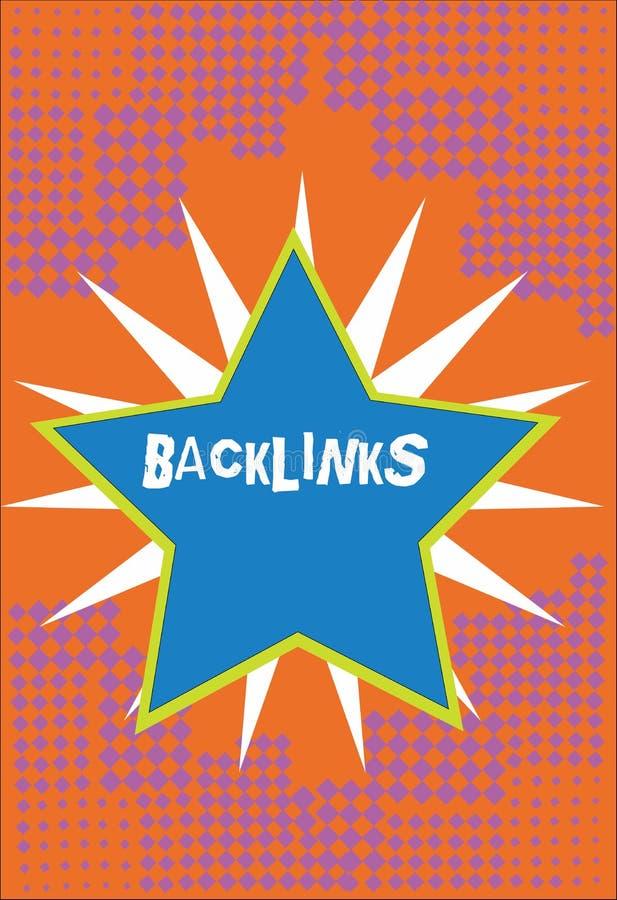 手写文本Backlinks 从一个网页的概念意思接踵而来的超链接到另一个大网站毗邻了发光 库存例证