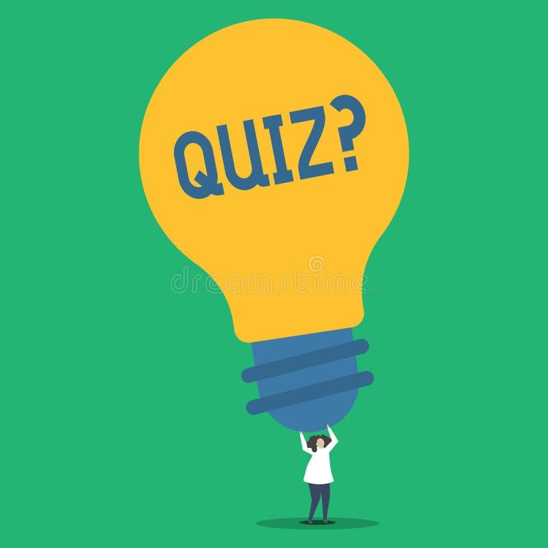 手写文本Quizquestion 定量您的知识人的概念意思短的测试评估考试 库存例证