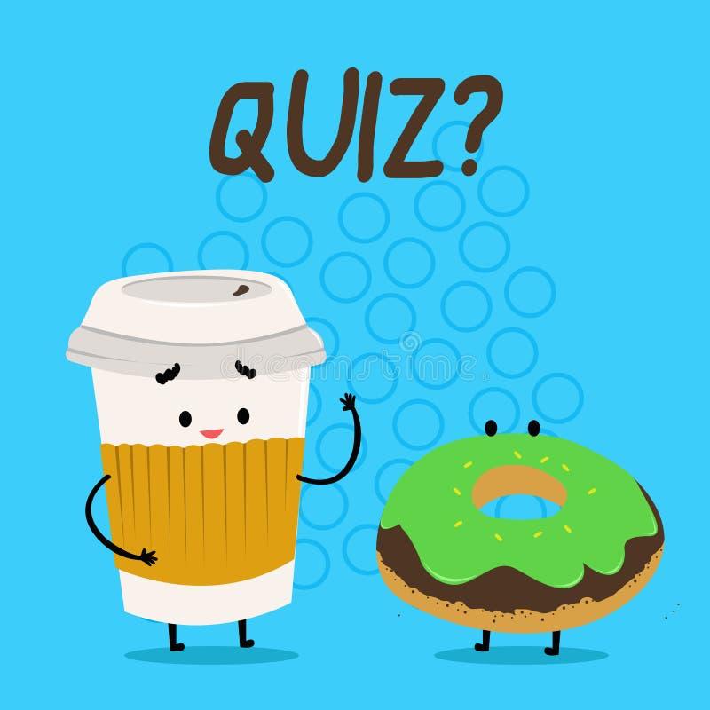 手写文本Quizquestion 定量您的知识的概念意思短的测试评估考试执行 库存例证