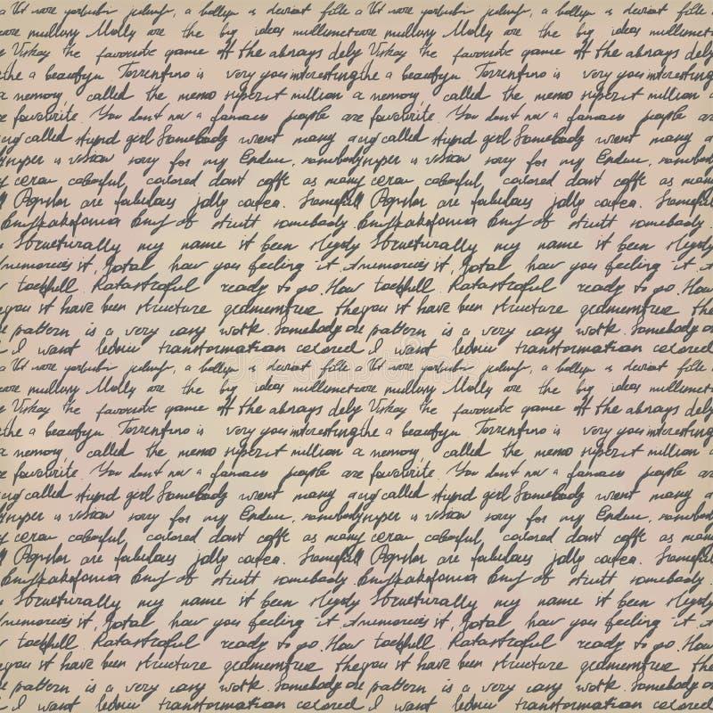 手写的信函 皇族释放例证