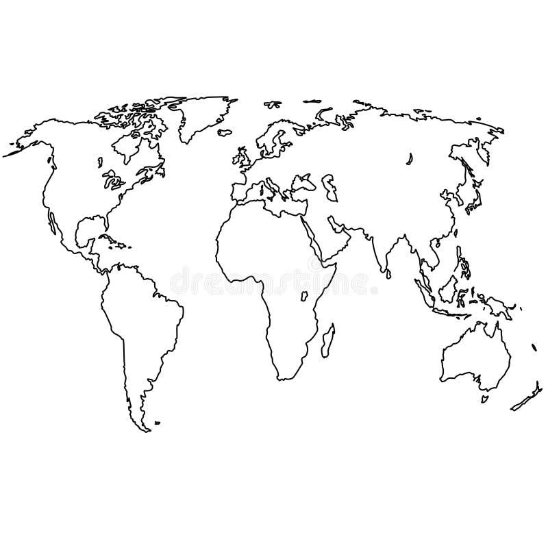 手写的地球线 免版税库存照片