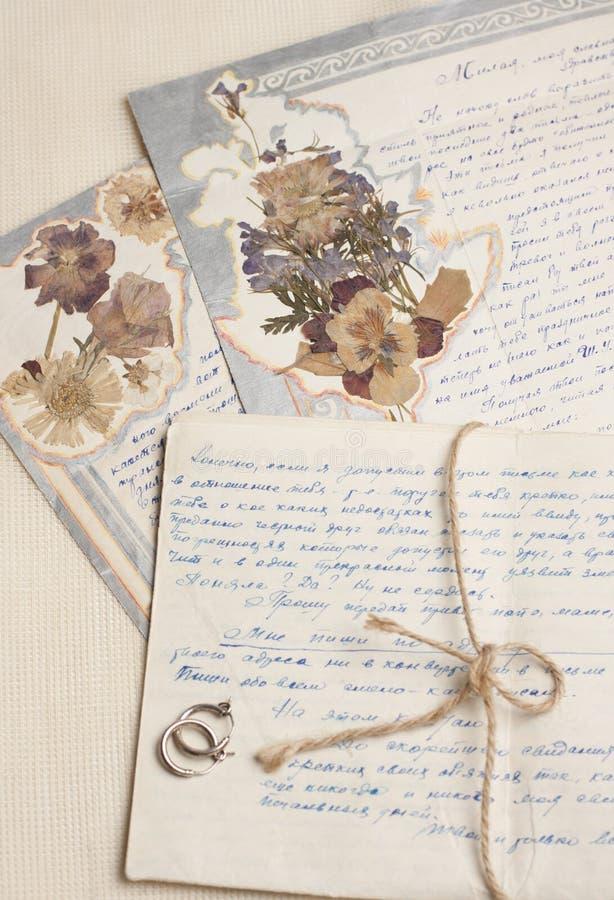 手写的干燥标本集在葡萄酒上写字 免版税库存图片