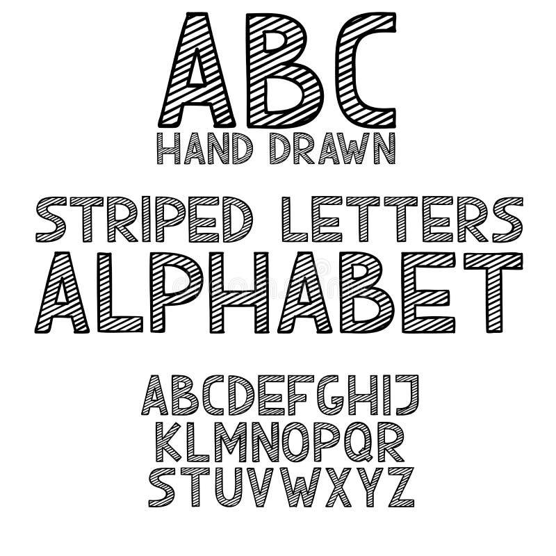 手凹道乱画abc,字母表难看的东西字体传染媒介例证 向量例证