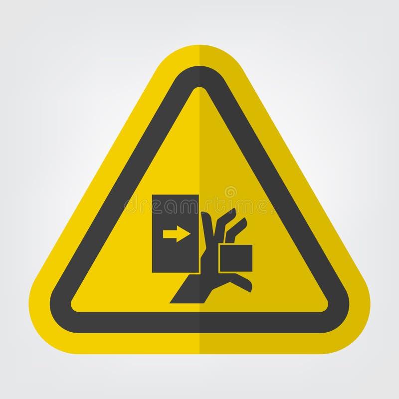 手击碎从左标志标志孤立的力量在白色背景,传染媒介例证EPS 10 皇族释放例证