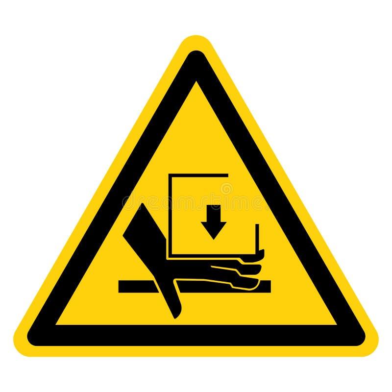 手击碎力量从标志标志,传染媒介例证,在白色背景标签的孤立上 EPS10 向量例证