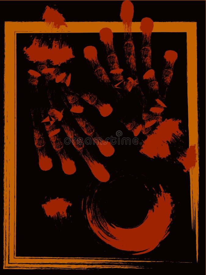 手刷子与难看的东西样式的例证背景 免版税库存图片