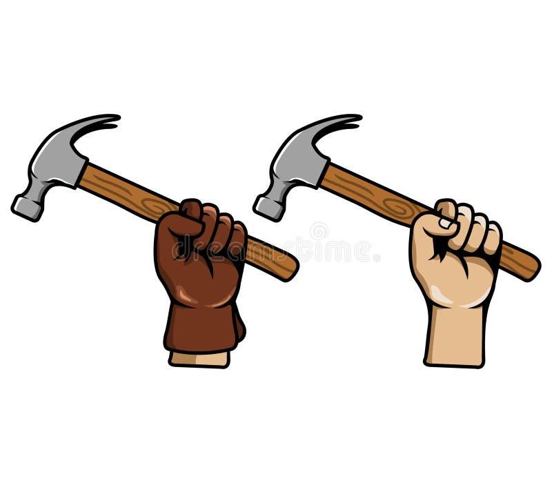手劫掠锤子 向量例证