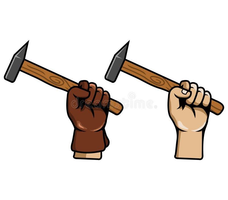手劫掠schlosser锤子 库存例证