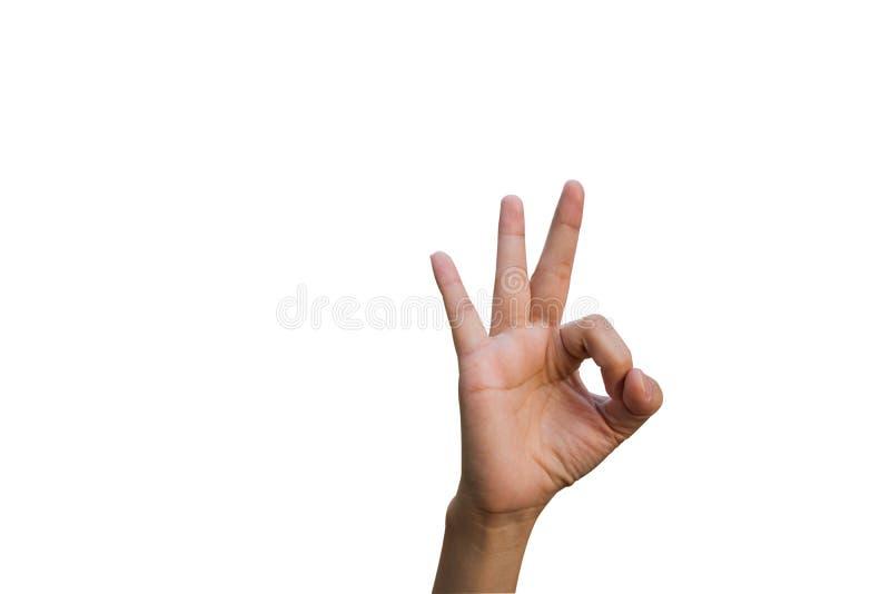 手势妇女 免版税库存图片